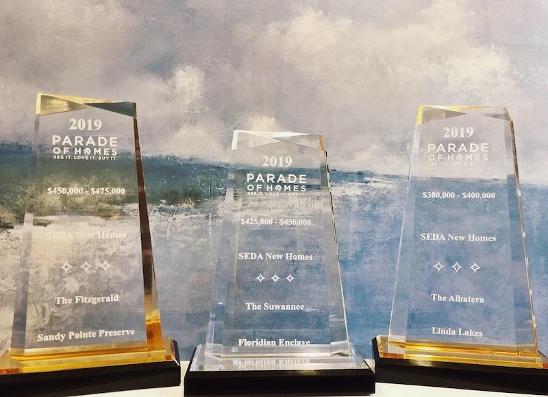 2019 Parade of Homes Trophies